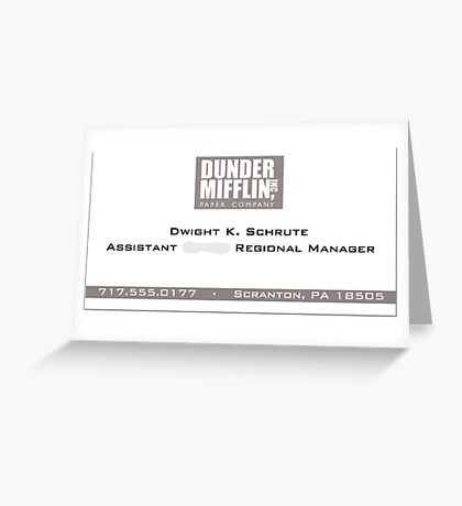 Dwight Schrute Business Card Greeting Card