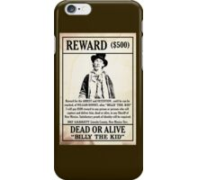 Billy the Kid Wanted Poster iPhone Case/Skin