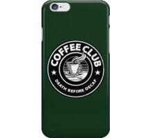 Coffee Club. iPhone Case/Skin