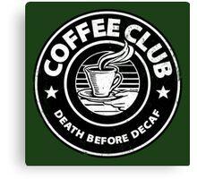 Coffee Club. Canvas Print