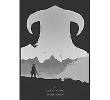A Tale of a Lone Dragon Slayer Photographic Print