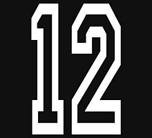 12, TEAM SPORTS, NUMBER 12, TWELVE, TWELFTH, Competition, WHITE Unisex T-Shirt