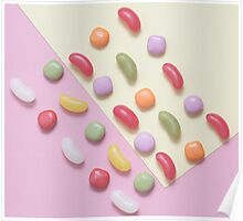 Sweet treat print 1 - pastel colours, jelly beans  Poster