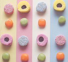 Sweet treat print 2 - pastel colours, liquorice  by BeckyNetley
