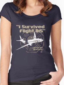 "LOST ""I Survived Flight 815"" Women's Fitted Scoop T-Shirt"