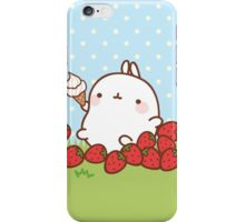 kawaii molang more strawberries iPhone Case/Skin