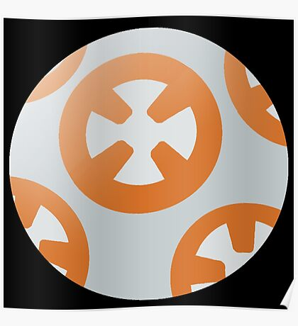 Simple BB8 Circle Design Poster