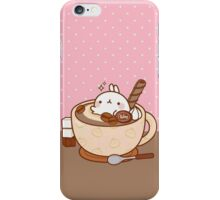 kawaii molang tiny tea bath iPhone Case/Skin
