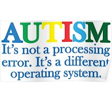 Autism Operating System Poster