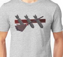 Three Bombs, One Broom Unisex T-Shirt