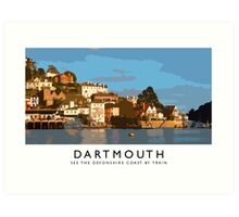 Dartmouth (Railway Poster) Art Print