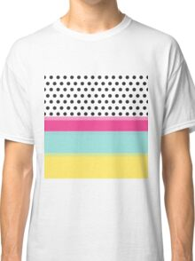 Hipster Polka Dots and Color Blocks Classic T-Shirt