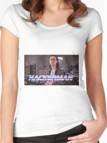 Hackerman Poster Women's Fitted Scoop T-Shirt