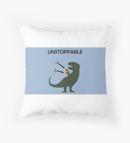 Unstoppable T-Rex Throw Pillow