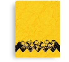 Charlie Brown y sus amigos Canvas Print