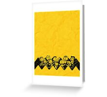 Charlie Brown y sus amigos Greeting Card