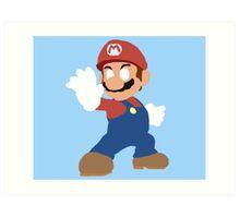 Simplistic Mario  Art Print