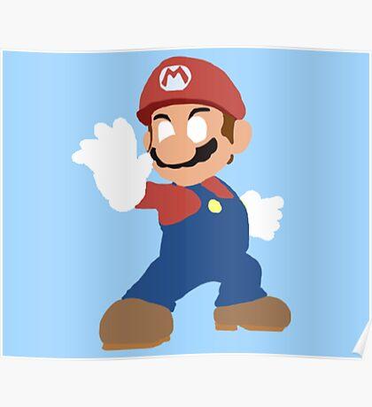 Simplistic Mario  Poster