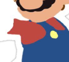 Simplistic Mario  Sticker