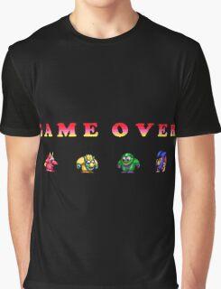 SNOWBROS GAMEOVER Graphic T-Shirt