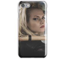 Bad, Beautiful and sexy blonde with a baseball bat iPhone Case/Skin