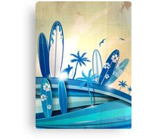 surfboard  background  Canvas Print