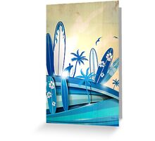 surfboard  background  Greeting Card