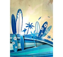 surfboard  background  Photographic Print