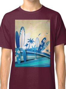 surfboard  background  Classic T-Shirt
