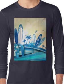 surfboard  background  Long Sleeve T-Shirt