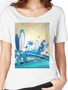 surfboard  background  Women's Relaxed Fit T-Shirt