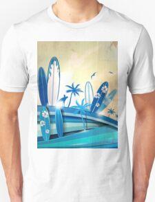 surfboard  background  T-Shirt