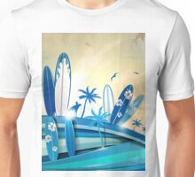 surfboard  background  Unisex T-Shirt