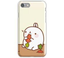 kawaii molang munching iPhone Case/Skin