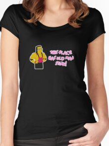 BRET HART SIMPSONS Women's Fitted Scoop T-Shirt