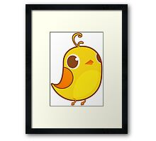 Cute Yellow Chick Framed Print