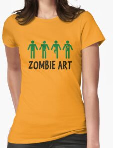Zombie Art Womens Fitted T-Shirt