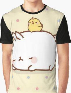 kawaii sleepy molang Graphic T-Shirt