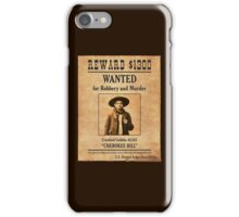 Cherokee Bill Wanted Poster iPhone Case/Skin
