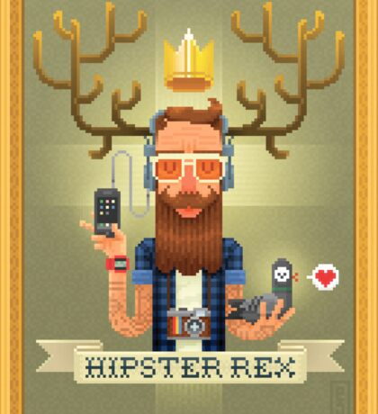 HIPSTER REX Sticker