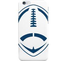 Blue Vector Football iPhone Case/Skin