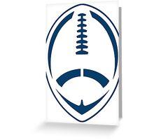Blue Vector Football Greeting Card
