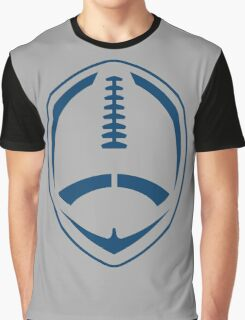 Blue Vector Football Graphic T-Shirt