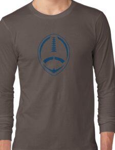 Blue Vector Football Long Sleeve T-Shirt
