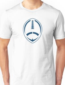 Blue Vector Football Unisex T-Shirt