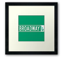 Broadway (with Statue of Liberty), Street Sign, NYC Framed Print