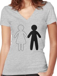 Missing half (Part I - girl) Women's Fitted V-Neck T-Shirt