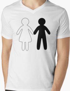 Missing half (Part I - girl) Mens V-Neck T-Shirt
