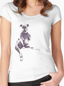 puppert Women's Fitted Scoop T-Shirt