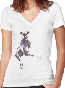 puppert Women's Fitted V-Neck T-Shirt